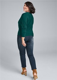 Back View Casual Ruched Top