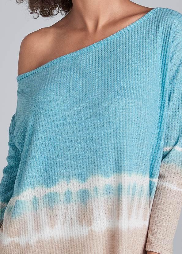 Alternate View Waffle Knit Tie Dye Top