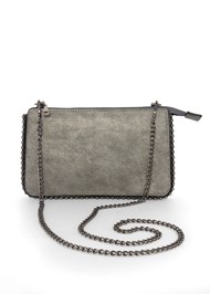 Flatshot front view Studded Chain Strap Bag