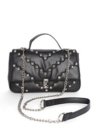Flatshot front view Studded Handbag
