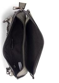 Flatshot open view Studded Chain Strap Bag