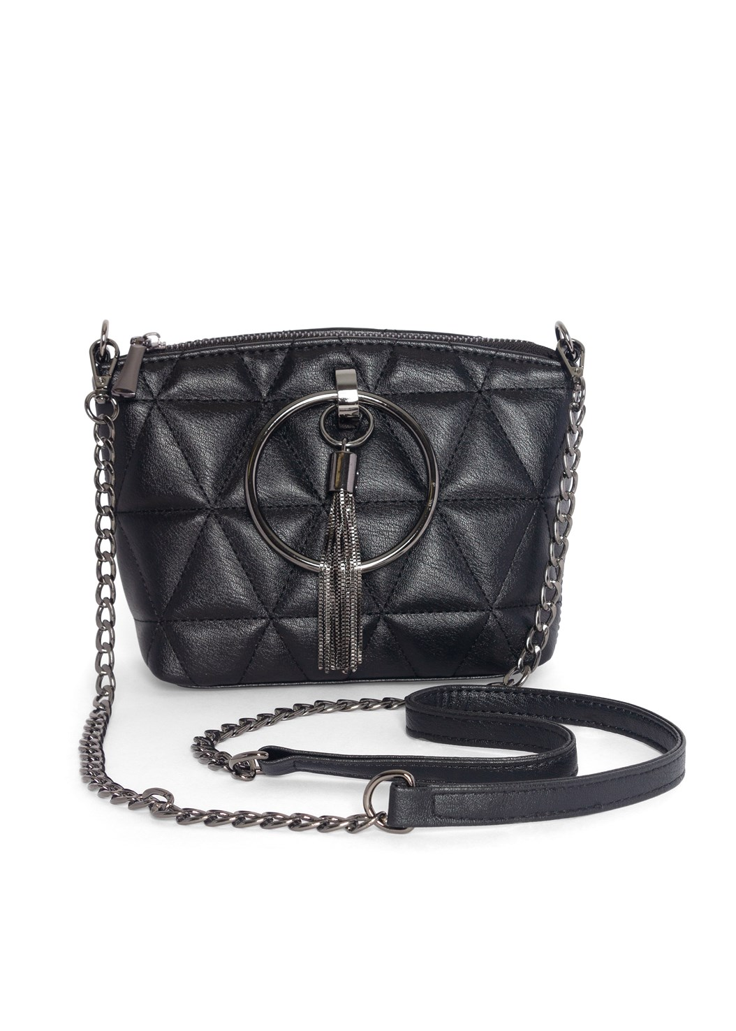 Quilted Handbag With Charm