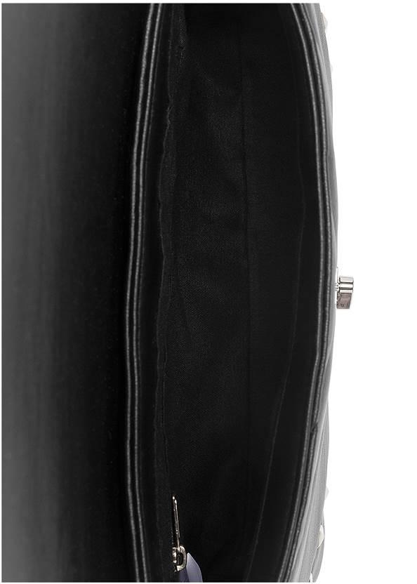 Flatshot open view Studded Handbag