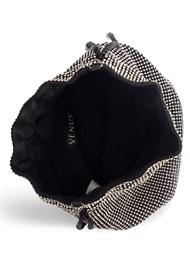 Flatshot open view Soft Embellished Bucket Bag