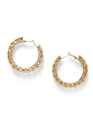 Front View Rhinestone Hoops