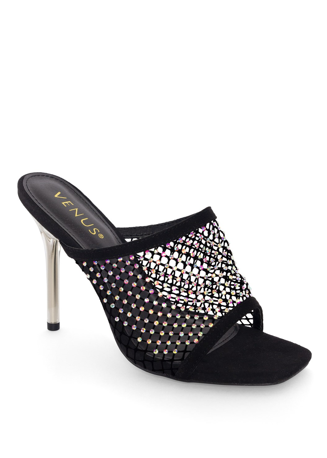 Embellished Net Heel