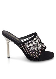 Shoe series  view Embellished Net Heel