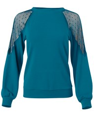 Alternate View Polka Dot Mesh Sweatshirt