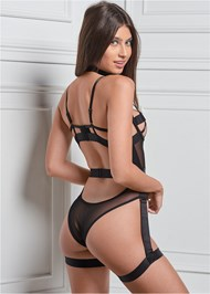Back View Unlined Strappy Bodysuit