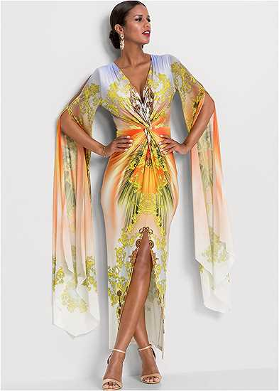 Exaggerated Sleeve Dress