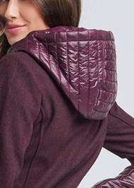 Alternate View Faux Wool Puffer Coat