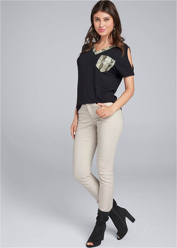 Front View Cold Shoulder Top