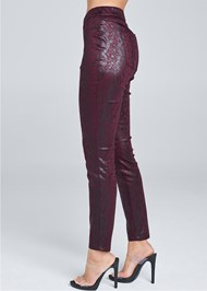 Alternate View Python Faux Leather Pants