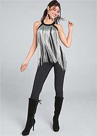 Full Front View Fringe Top
