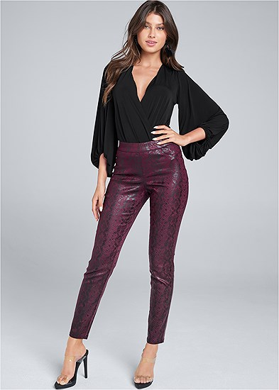 Python Faux Leather Pants