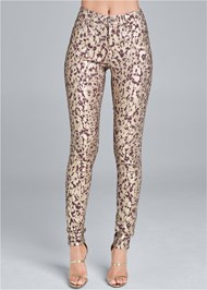 Alternate View Leopard Print Skinny Jeans