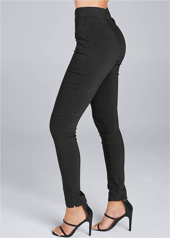 Alternate View Mid Rise Slimming Stretch Jeggings