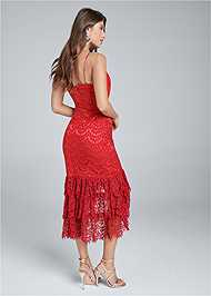 Back View High Low Lace Dress