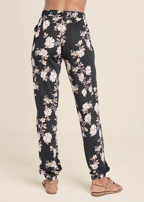Back View Floral Printed Pants