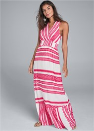 Alternate View Smocked Waist Maxi Dress