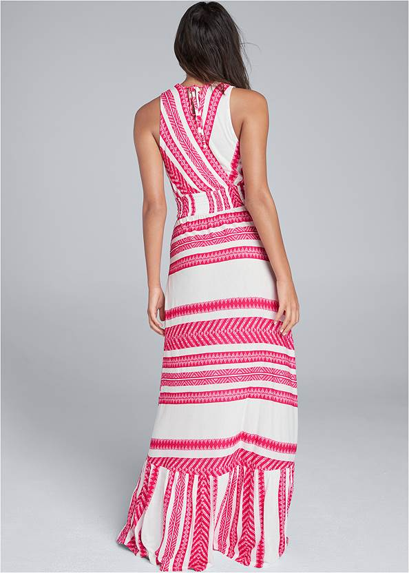 Alternate View Smocked Waist Maxi Dress
