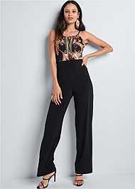 Full  view Paisley Printed Jumpsuit
