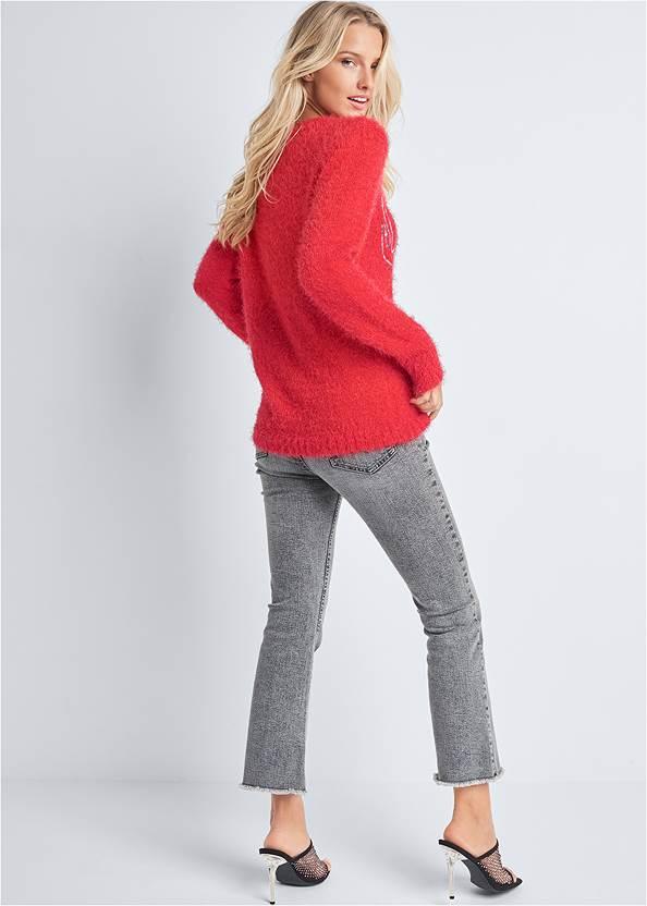 Back View Reindeer Sweater