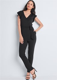Full front view Ruffle Detail Jumpsuit