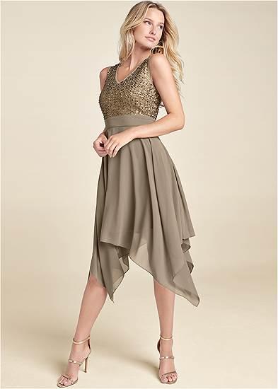 Sequin Detail Party Dress