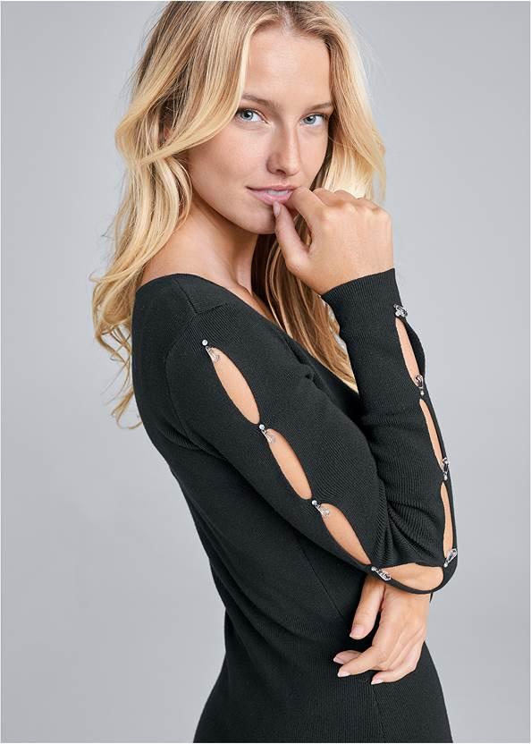 Alternate View Sleeve Detail Sweater Dress