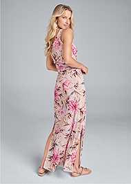 Back View Floral Maxi Dress