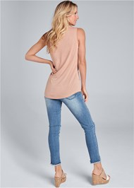 Back View Tie Detail Casual Top