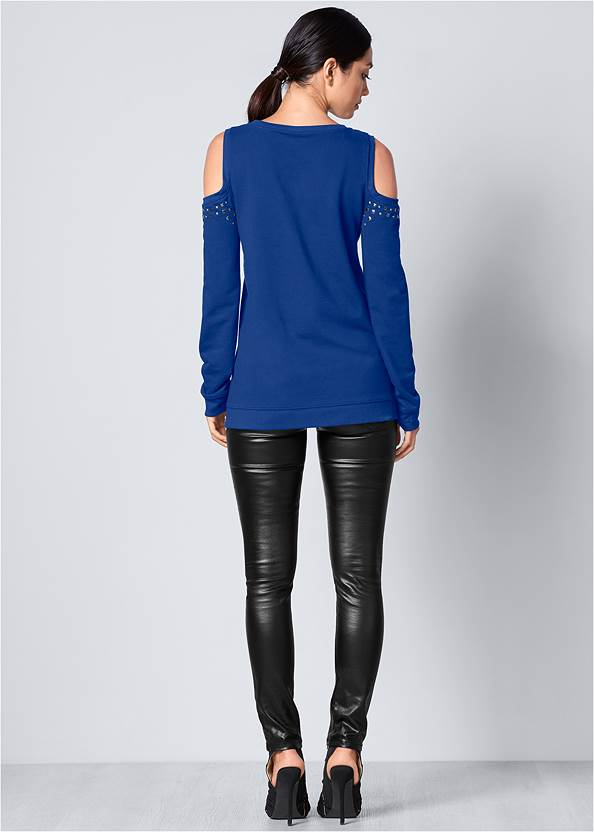 BACK View Cold-Shoulder Sweatshirt