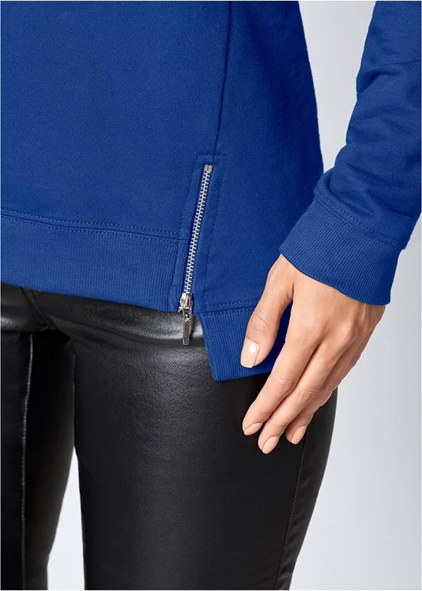 Alternate View Cold-Shoulder Sweatshirt