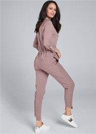Back View Utility Lounge Jumpsuit