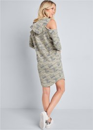 Full back view Cold Shoulder Lounge Dress