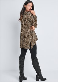 Back View Leopard Lounge Cardigan