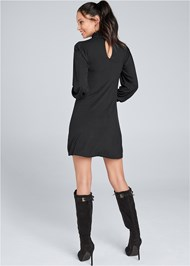 Back View Turtleneck Dress