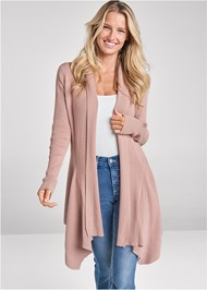 Cropped front view Waterfall Cardigan