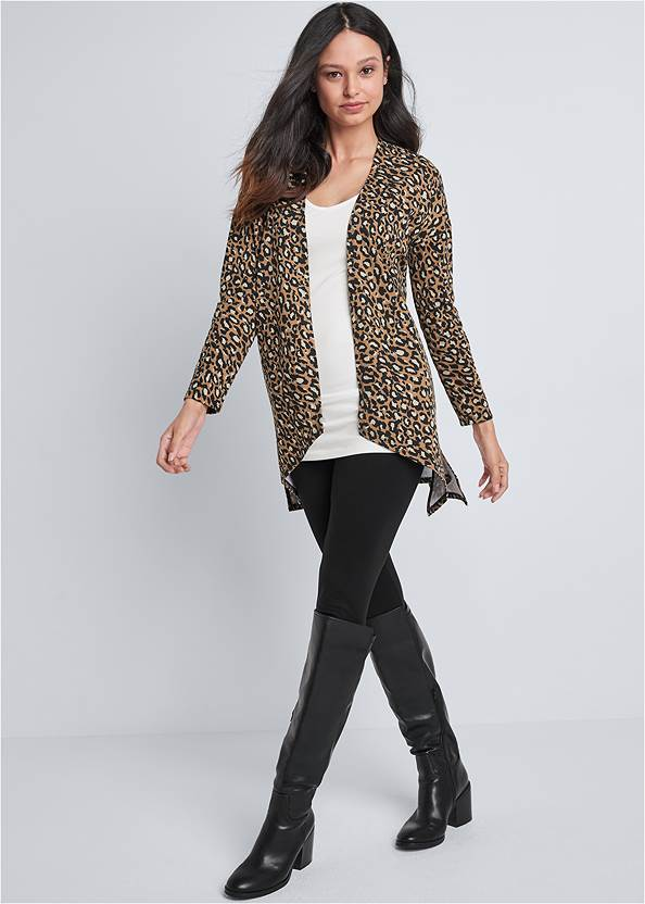 Front View Leopard Lounge Cardigan