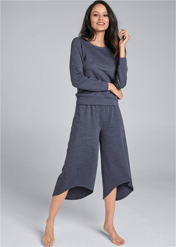 Front View Mineral Wash Pant Set