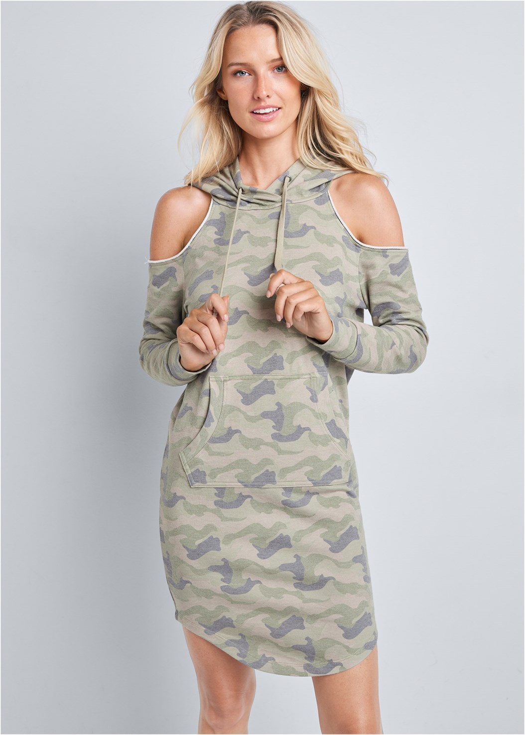 Cold Shoulder Lounge Dress,Seamless Lace Comfort Bra,Embellished Striped Sneaker