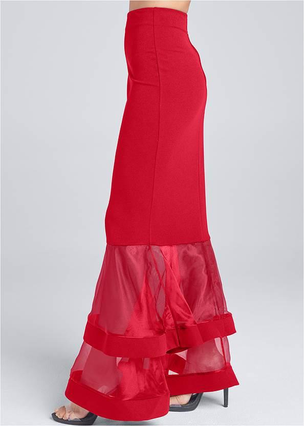 Alternate View Mermaid Hem Maxi Skirt