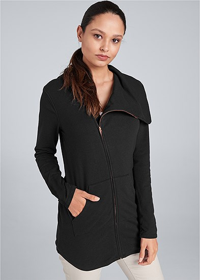 diagonal zip lounge jacket