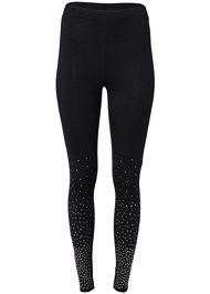 Alternate View Rhinestone Detail Leggings