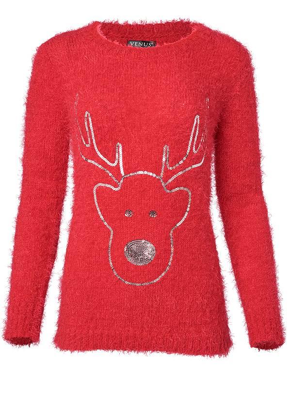 Alternate View Reindeer Sweater