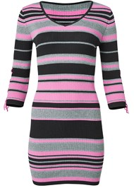 Alternate View Striped Sweater Dress