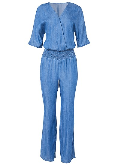 Plus Size Chambray Jumpsuit
