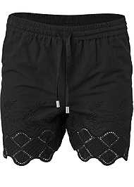 Alternate View Crochet Trim Linen Shorts