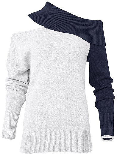 Plus Size One Shoulder Sweater